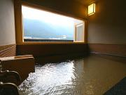 源泉掛け流しの半露天風呂付客室(下呂温泉小川屋)