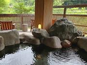 かけ流し温泉の露天風呂付き客室