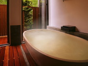 源泉かけ流し半露天風呂付特別室(やまゆりの宿)