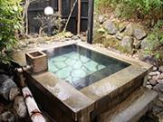 天然温泉100%かけ流しの客室露天風呂(四季の里 はなむら)