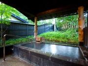 源泉かけ流しの露天風呂付客室(静寂な森の宿 山しのぶ)
