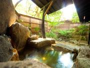 源泉かけ流しの離れ露天風呂付客室(旅籠かやうさぎ)