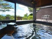 源泉かけ流しの露天風呂付客室(高原の隠れ家 スパ・グリネス)